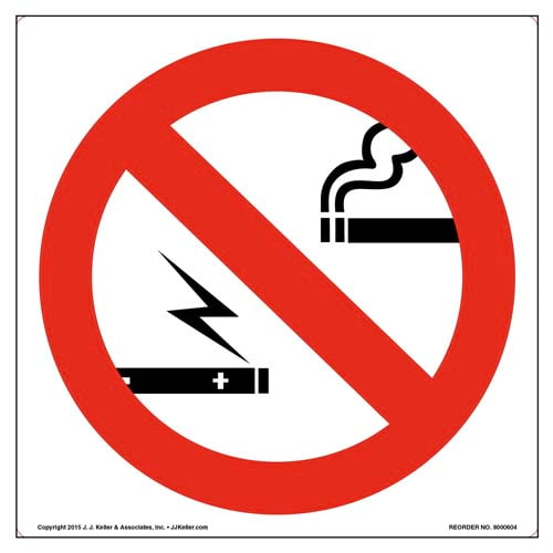 No Smoking or Vaping Sign and Label - Wordless (011834)