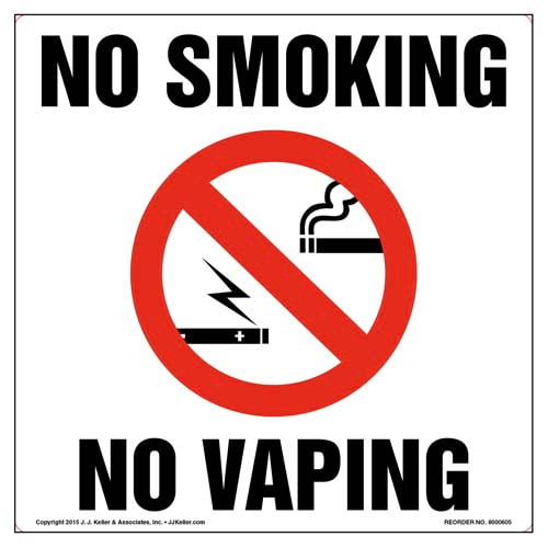 Connecticut: No Smoking/Vaping Sign and Label (011835)