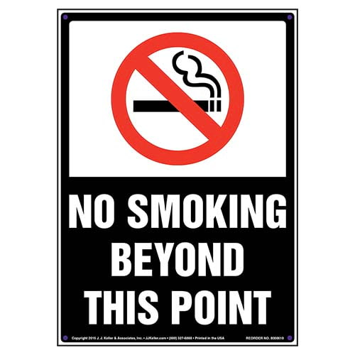 No Smoking Beyond This Point Sign (011840)