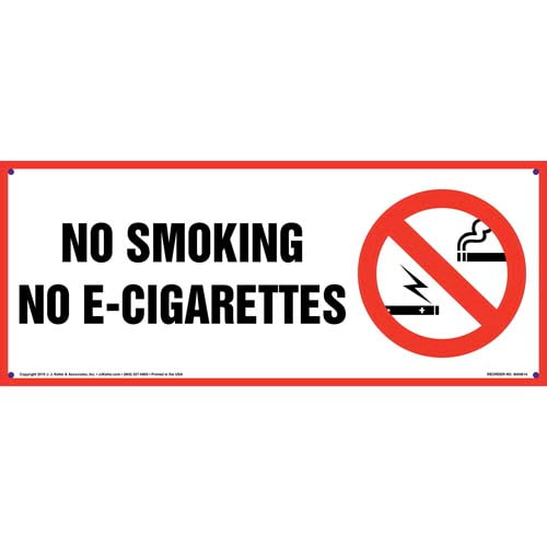 No Smoking No E-Cigarettes Sign (011844)