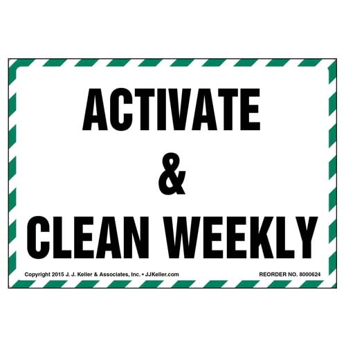 Activate & Clean Weekly Label (011853)