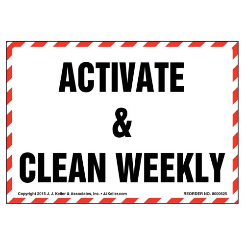 Activate & Clean Weekly Label (011854)