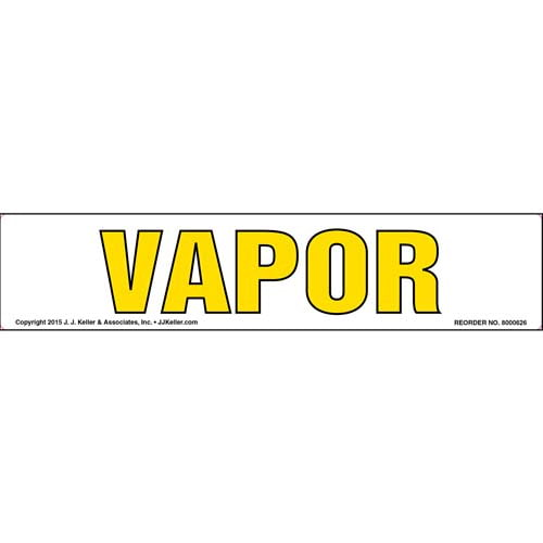 Vapor Label - Yellow Text (011855)