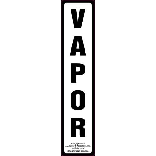 Vapor Label - White, Vertical (011857)
