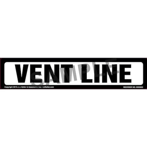 Vent Line Label - White (011861)