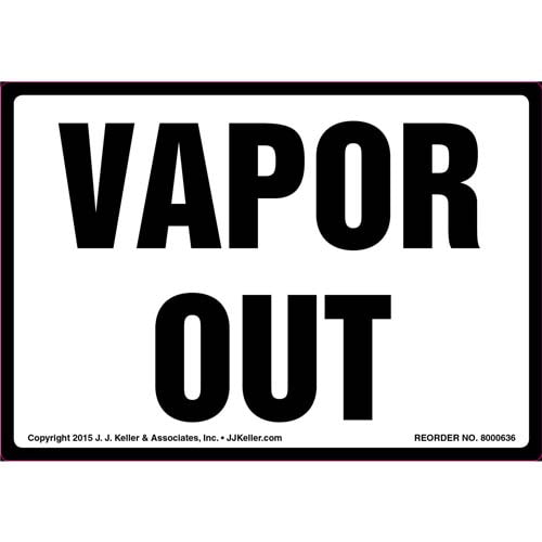 Vapor Out Label (011865)