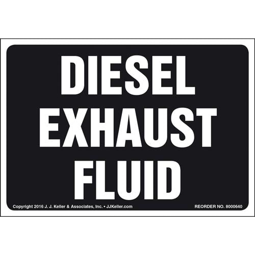 Diesel Exhaust Fluid Label (011875)