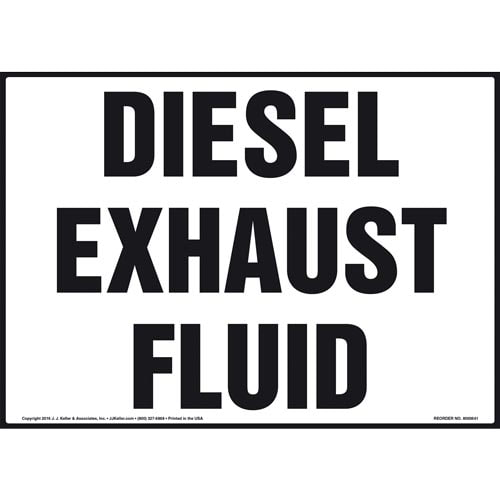 Diesel Exhaust Fluid Sign (011876)