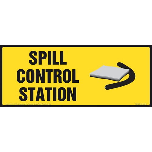 Spill Control Station Sign With Graphic (011883)