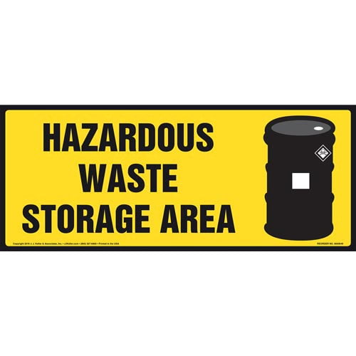 Hazardous Waste Storage Area Sign With Graphic (011884)