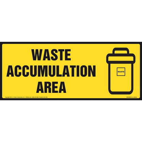 Waste Accumulation Area Sign With Graphic (011885)
