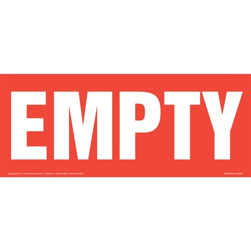 Empty Sign - Long Format (011899)