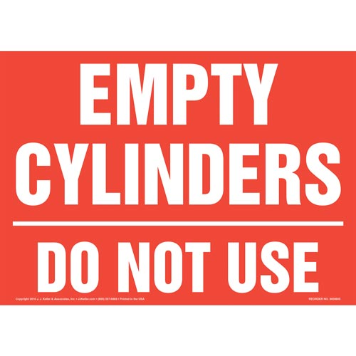 Empty Cylinders: Do Not Use Sign (011901)