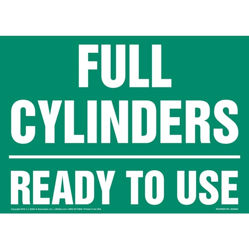 Full Cylinders: Ready To Use Sign (011902)
