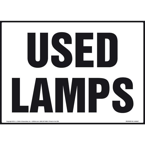 Used Lamps Sign (011903)