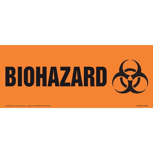 Biohazard With Graphic Sign (Narrow) (011918)