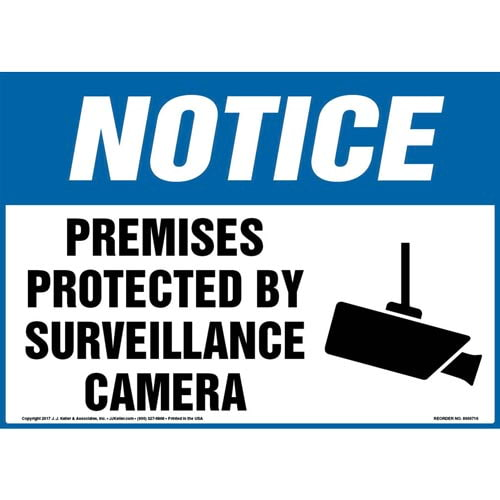 Notice: Premises Protected By Surveillance Camera Sign - OSHA (011952)