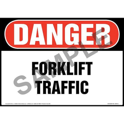 Danger: Forklift Traffic Sign - OSHA (011957)