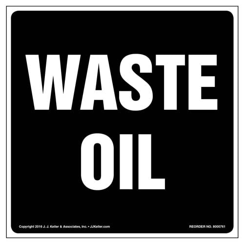 Waste Oil Label (011996)