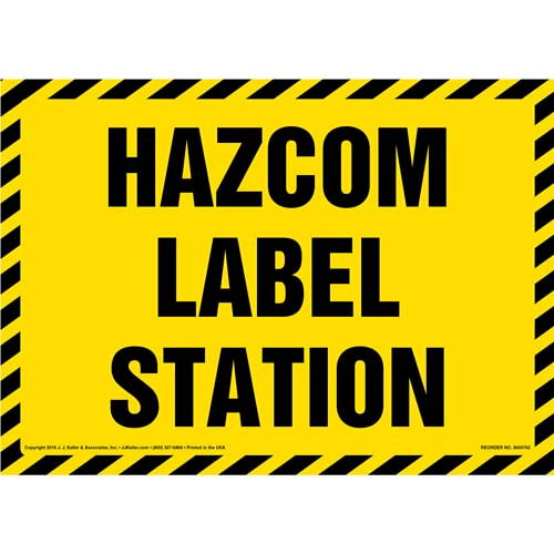 Hazcom Label Station Sign (011997)