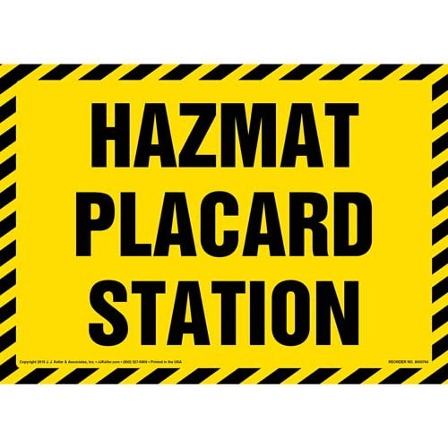 Hazmat Placard Station Sign (011999)