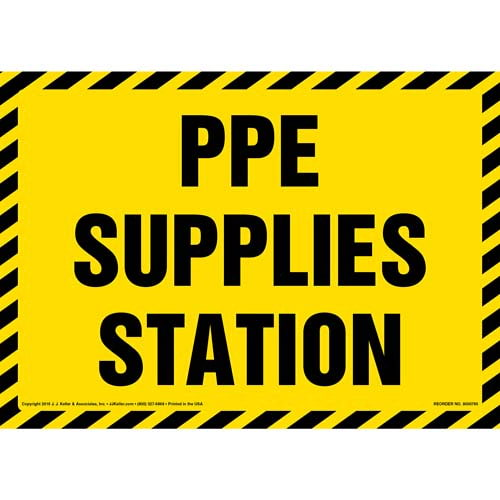 PPE Supplies Station Sign (012000)