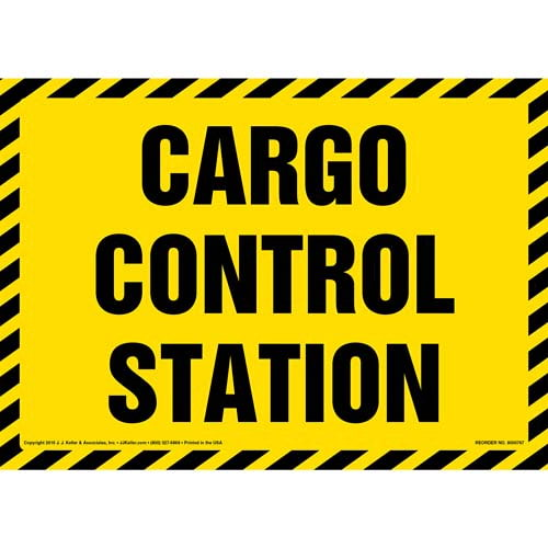 Cargo Control Station Sign (012002)