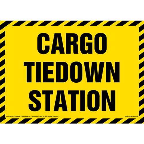Cargo Tiedown Station Sign (012004)