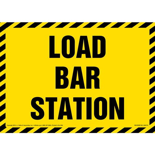 Load Bar Station Sign (012005)
