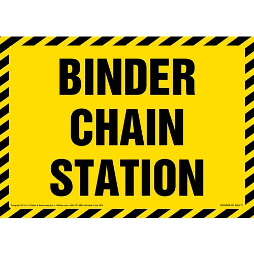 Binder Chain Station Sign (012006)