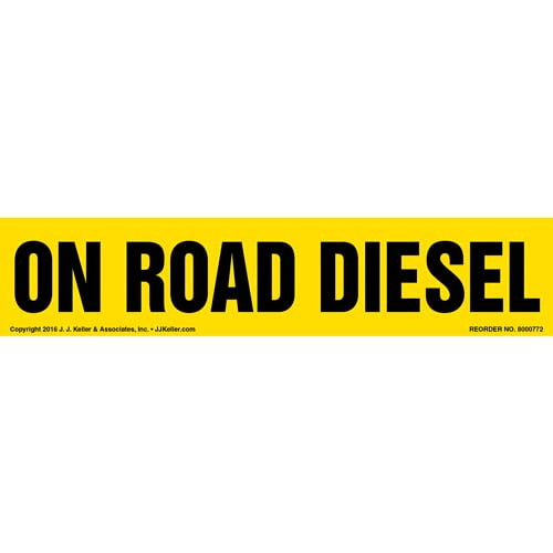 On Road Diesel Label - Yellow (012007)