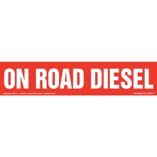 On Road Diesel Label - Red (012008)
