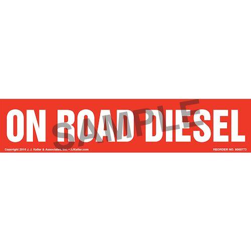 On Road Diesel Label - Red (012008)