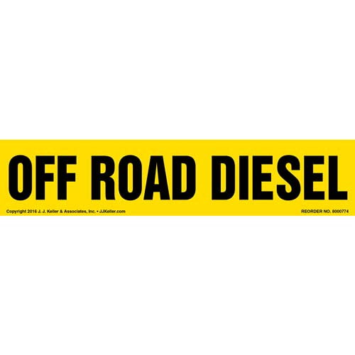 Off Road Diesel Label - Yellow (012009)