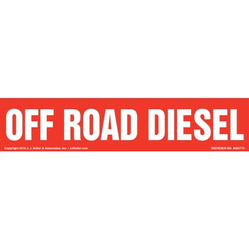 Off Road Diesel Label - Red (012010)