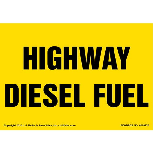 Highway Diesel Fuel Label - Yellow (012011)
