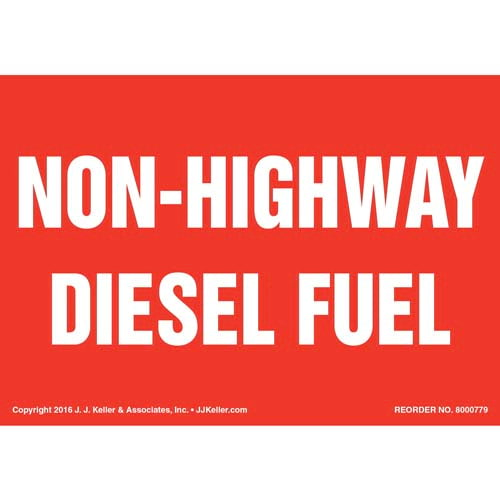 Non-Highway Diesel Fuel Label - Red (012014)
