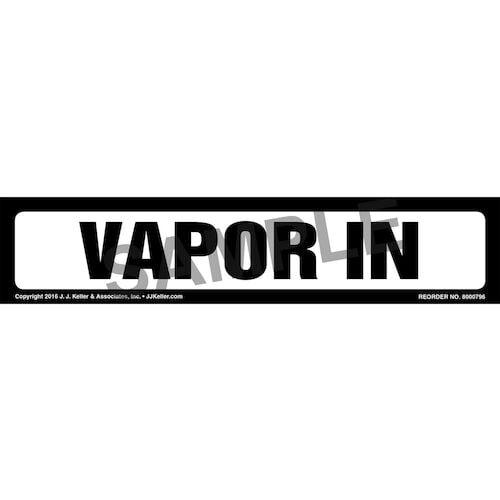 Vapor In Label - White, Long Format (012031)