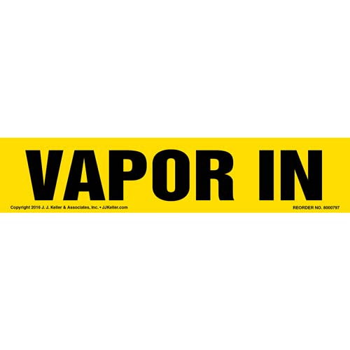 Vapor In Label - Yellow, Long Format (012032)