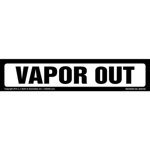 Vapor Out Label - White, Long Format (012034)