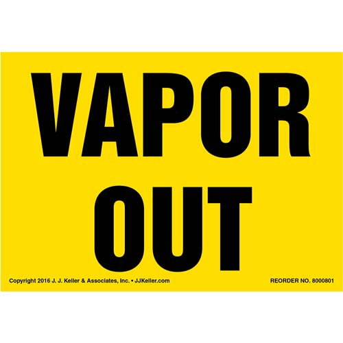 Vapor Out Label - Yellow (012036)