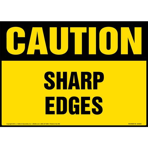 Caution: Sharp Edges Sign - OSHA (012039)