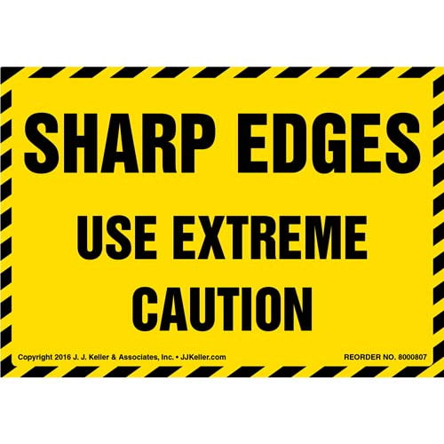 Sharp Edges Use Extreme Caution Label (012042)