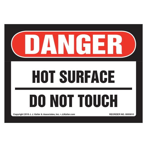 Danger: Hot Surface Do Not Touch - OSHA Label (012045)