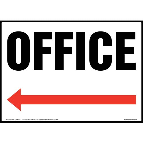 Office Sign - Left Arrow (012055)