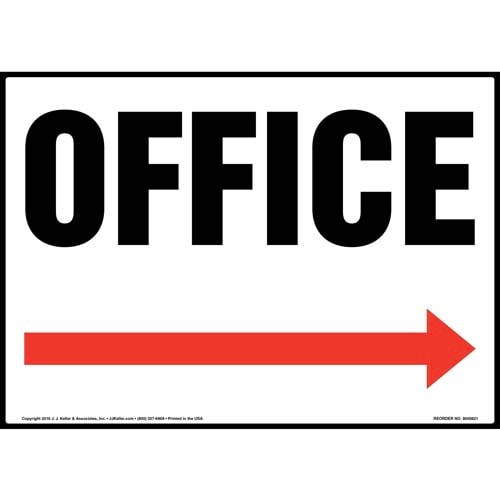 Office Sign - Right Arrow (012056)