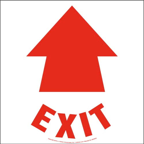 Exit Floor Sign with Icon (010538)