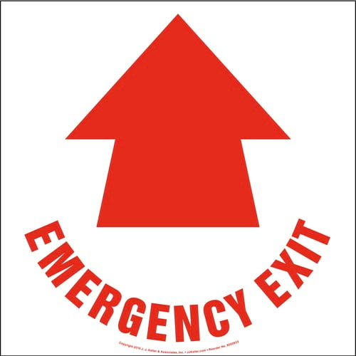 Emergency Exit Floor Sign with Icon (010539)
