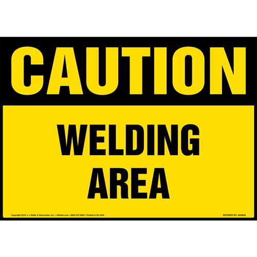 Caution: Welding Area Sign - OSHA (010690)