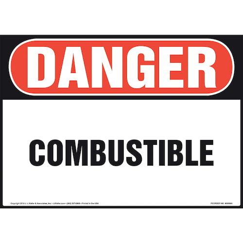 Danger: Combustible Sign - OSHA (010981)